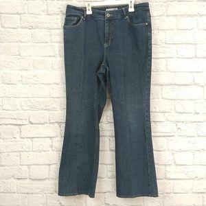 Chico's | Platinum Dark wash Bootcut Petite Jeans